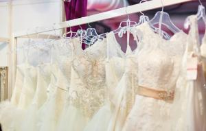 rack of wedding dresses